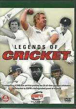 LEGENDS OF CRICKET 6 DVD SET WEST INDIES SOUTH AFRICA INDIA PAKISTAN & MORE ESPN
