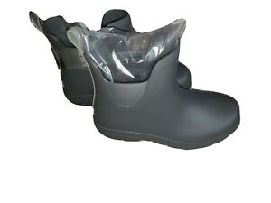 NWT Women's Grey TOTES Cirrus Ankle Rubber Boots 8