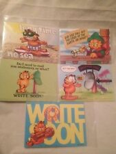 Garfield VTG Lot Postcards Write Soon Long Time No Sea Do I Need Mail Stationary