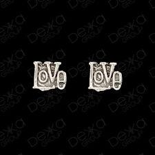 925 Sterling Silver LOVE Heart Stud Earrings Mini Studs Girls Women Children Men