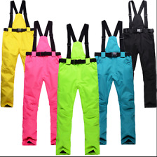 New Adults Men Women Snow Ski Snowboard Bib Pants Waterproof Warm Snow Pants