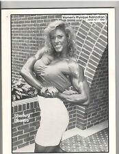 WOMEN'S PHYSIQUE PUBLICATION female bodybuilding muscle/SHELLEY BEATTIE 1990