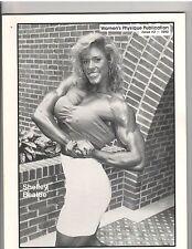 WOMEN'S PHYSIQUE PUBLICATION female bodybuilding muscle/SHELLEY BEATTIE 1990