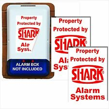 2 x Burglar Alarm Bell Box Stickers-Signs-Security Solutions-Portrait Designs