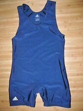 Adidas Singlet Wrestling Size Medium Nylon Lycra Practice Uniform Navy Blue