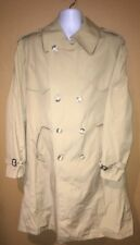 Vtg Cortefiel Mens Brown Double Breasted Trench Coat Size 36R