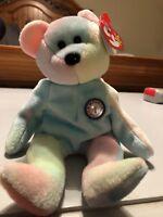"TY Beanie Babies ""B.B. BEAR"" HAPPY BIRTHDAY Teddy Bear - GREAT GIFT! MINT!"