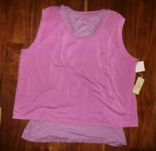 Nwt Womens Tangerine Purple Exercise Active Fitness Tank Top Shirt M Medium
