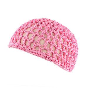 Womens Mesh Hair Net Crochet Cap Various Color Snood Sleeping Night Cover Turban