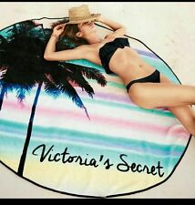 Victoria's Secret Vs Palm Tree Beach Velour Round Towel Throw Blanket Roundie Bn