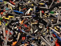 100 Lego Technic Mindstorms NXT RCX BULK Parts LOT Liftarms Bricks Axles Pins