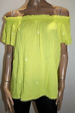 Rockmans Brand Yellow Cap Sleeve Gypsy Blouse Top Size 20 BNWT #RA22