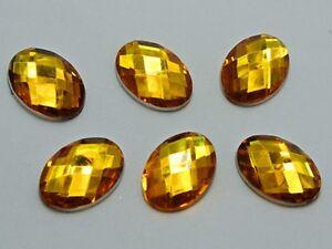 100 Flatback Acrylic Rhinestone Oval Gem Beads 13X18mm No Hole Colour For Choice