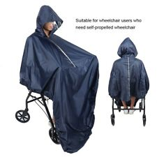 Unisex Nylon Black Wheel Chair Rain Poncho Waterproof Wheelchair Rain Coat Cover