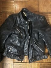 Womens Black Leather Motorcycle Jacket Size Small