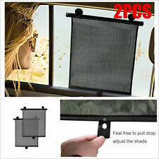 2Pcs Retractable Car Side Window Baby Sun Shade Shield Cover Roll Curtain Visor