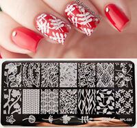 BORN PRETTY Nail Art Stamping Plate Leaves Flower Vine Nail Art Image Template