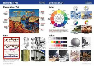Crystal Productions CP5561 Elements of Art & Principles of Design Posters