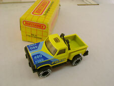 1983 MATCHBOX SUPERFAST MB 53 YELLOW FORD F-150 FLARE SIDE PICKUP NEW IN BOX