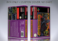 SUPER GHOULS'N GHOSTS. Box/Case. Super Nintendo. BOX + COVER. (NO GAME).