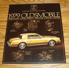 Original 1979 Oldsmobile Toronado Ninety Eight Delta 88 Cruiser Sales Brochure