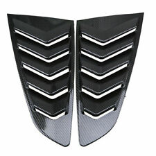 For 2015-2018 Ford Mustang Fastback Side Window Scoop Louver Shield Cover Black