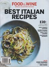 Food & Wine Special Collector's Edition Best Italian Recipes 2018