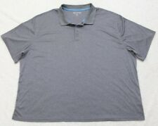 4X Great Northwest Gray Polo Shirt Polyester Solid Short Sleeve 4XL 3-Button Top