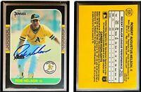 Rob Nelson Signed 1987 Donruss #595 Card Oakland Athletics Auto Autograph