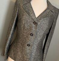 Kasper Black and White Blazer Jacket, Size 8