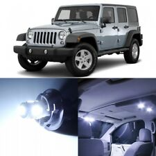 9 x Xenon White Interior LED Lights Package For 2007- 2017 Jeep Wrangler +TOOL