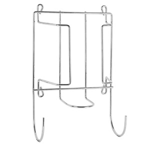 2 In 1 Iron & Ironing Board Holder Wall, Door or Cupboard Mounted Hanger M&W