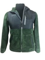 FREE COUNTRY Girls Sz XL 14/16 Mint Green Black Fleece Hoodie Jacket EUC SOFT