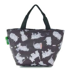 Black Scatty Scotty Print By Eco Chic Insulated Cool Lunch Bag