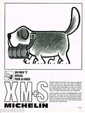 PUBLICITE ADVERTISING 055  1968  MICHELIN   pneus X M+S  spécial neige