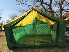 Vintage Monegomery Ward Western Field Large Tent & 2 Cots~No Poles~11x9x7' Ft