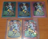 2020 Aaron Rodgers Prizm Lot Blue Pink Green Red Orange 5 MINT Condition Cards