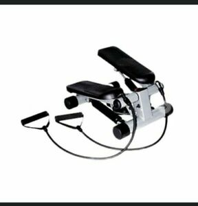 Sunny Health & Fitness Mini Stepper With Resistance Bands New