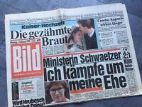 Bildzeitung BILD 01.02.1993 * zum 26. 28. 27. Ministerin Schwaetzer 1. FC Köln