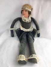 ART deco bambola da salotto Jester Mohair Parrucca CORPO DI STOFFA ABBIGLIAMENTO ORIGINALE C1920