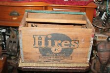 Antique Hires Root Beer Wood Crate Carrier Country Decor Americana