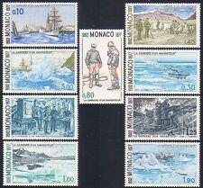 Monaco 1977 Boats/Sailing/Transport/Arctic/Polar/Exploration/Royalty 9v (n33517)