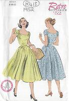 "1952 Vintage Sewing Pattern B31 1/2""-32 1/2""-34"" DRESS (R418)"