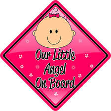 Our Little Angel Baby/Child on Board Car sign Red