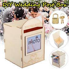 Wedding Post Box Royal Style DIY Money Card Post Box Decor Wooden Case Lock