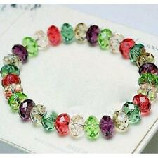 Woman's Jewelry Crystal Newly Faceted Stretch Bangle Loose beads Bracelet US-4