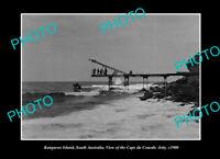 OLD 6x4 PHOTO KANGAROO ISLAND SOUTH AUSTRALIA CAPE DU COUEDIC JETTY 1900