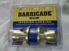 NEW Barricade By Yale Interior Locking Gold Knob Set