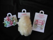 Gymboree PRINCESS SNOWDROP Lot of 3 Hair Accessories Clips & Furry Ponies NWT