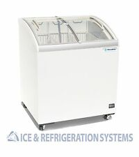 "Metalfrio 30"" Commercial Curved Top Glass Novelty Ice Cream Freezer Chest MSC30"